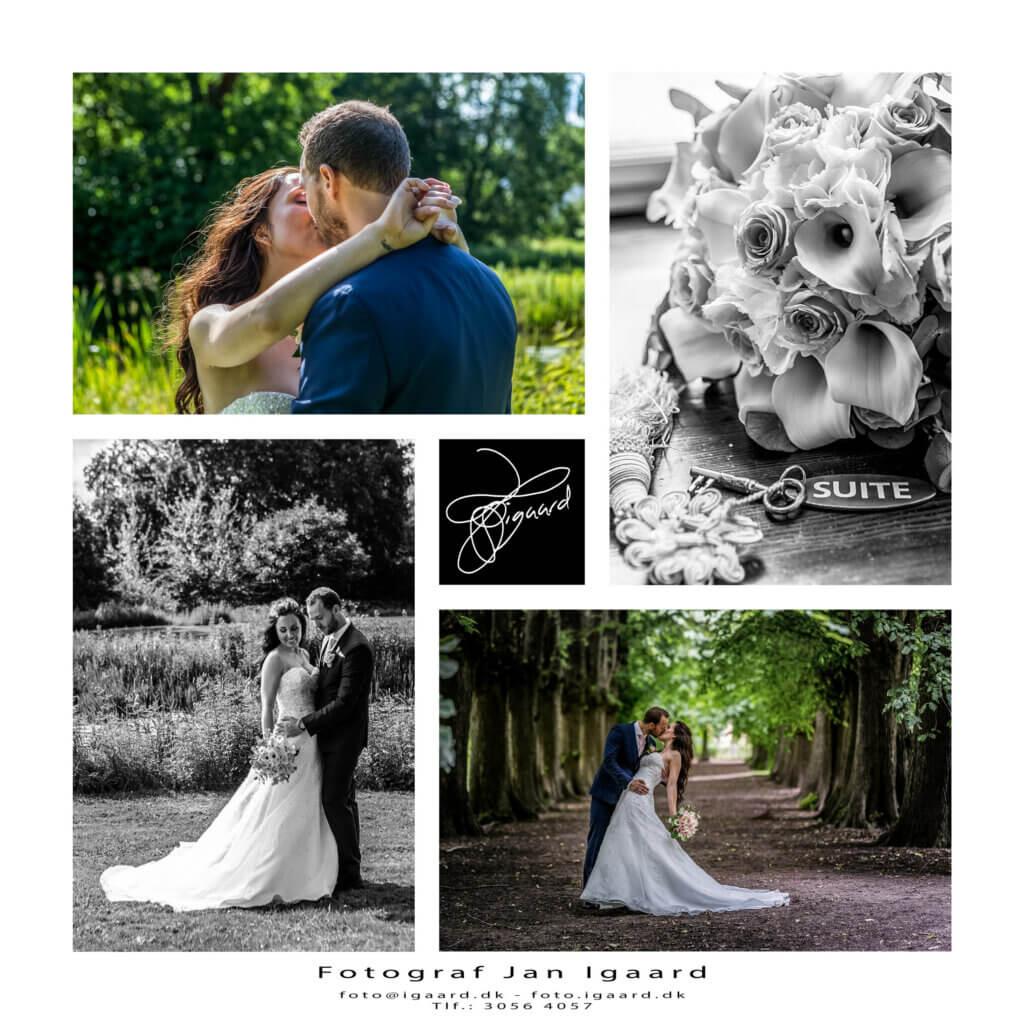Bryllupsfotograf til bryllup på Næsbyholm Slot