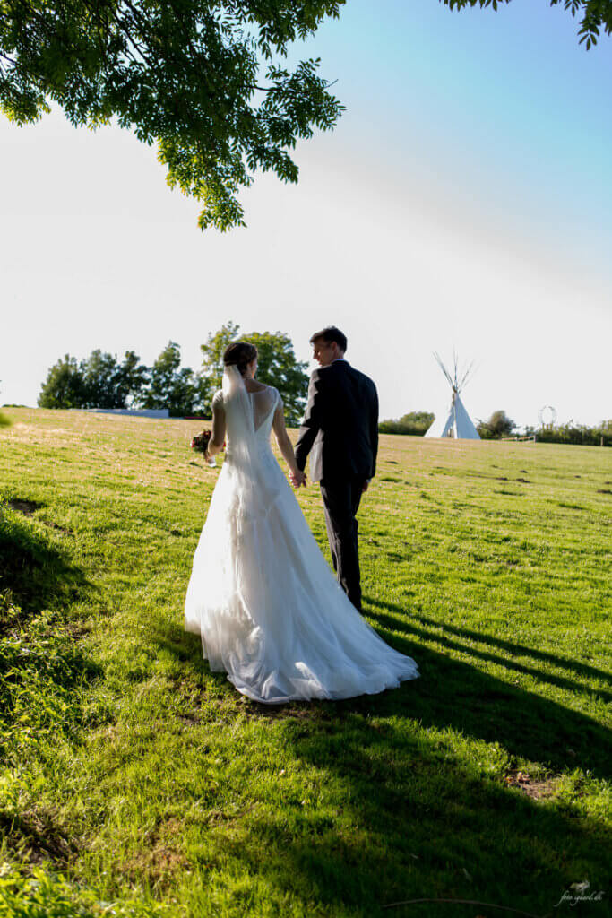 Bryllupsfotograf til bryllup på Ditlevsdal Bison Farm på Fyn