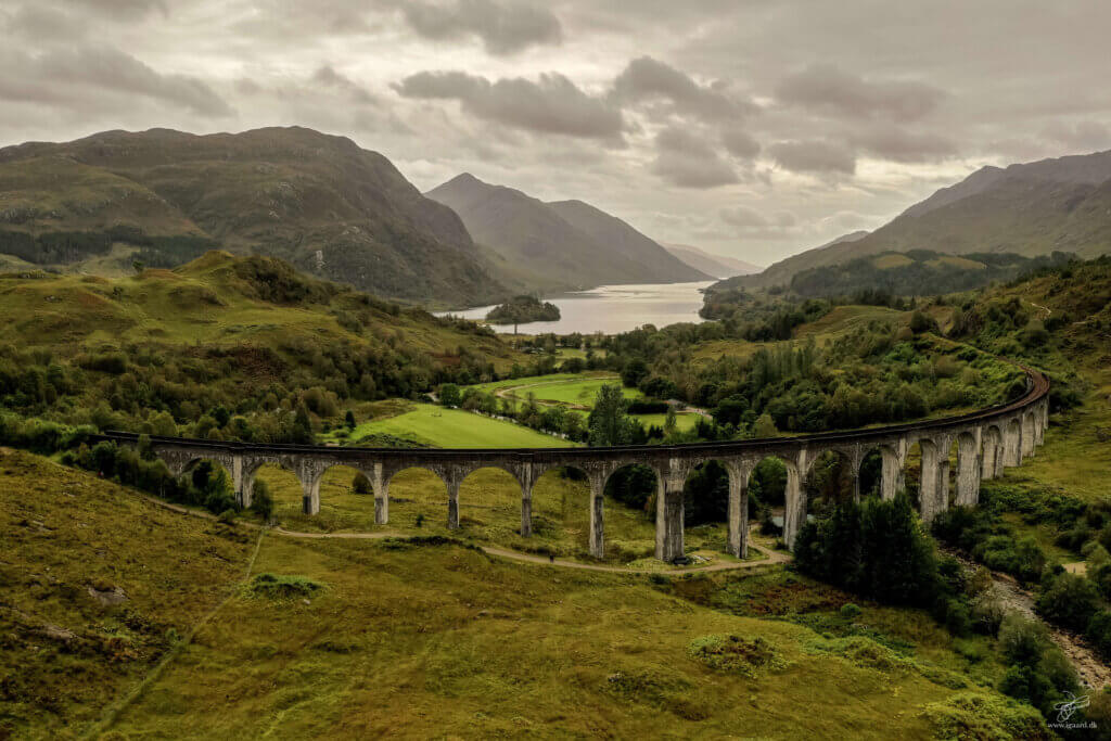 Harry Potter bridge - The Glenfinnan Viaduct Harry Potter, Luftfoto, drone foto, drone video, luftfoto fyn